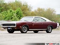 1970 Dodge Charger R/T SE = 211 kph, 375 bhp, 6.1 sec.
