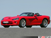 2003 Dodge Viper SRT10 Convertible = 311 kph, 507 bhp, 4.1 sec.