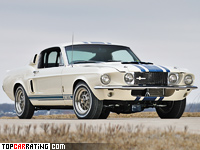 1967 Ford Mustang Shelby GT500 Super Snake = 274 kph, 520 bhp, 4.5 sec.