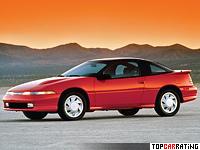 1990 Mitsubishi Eclipse GSX Turbo AWD (1G) = 230 kph, 195 bhp, 7.2 sec.