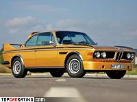 1973 BMW 3.0 CSL (E9) = 220 kph, 200 bhp, 7.5 sec.