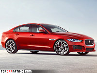 2015 Jaguar XE S = 250 kph, 335 bhp, 5.1 sec.