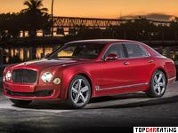 2014 Bentley Mulsanne Speed = 305 kph, 534 bhp, 5 sec.