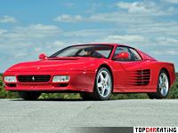 1991 Ferrari 512 TR = 309 kph, 428 bhp, 4.8 sec.