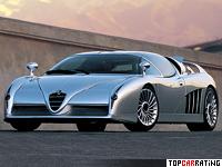 1997 Alfa Romeo Scighera = 300 kph, 410 bhp, 3.7 sec.
