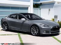 2014 Tesla Model S P85D = 250 kph, 701 bhp, 3.3 sec.