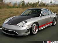 2004 9ff V400 Porsche 911 GT2 = 388 kph, 843 bhp, 3.5 sec.