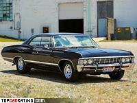 1967 Chevrolet Impala Hardtop Sedan = 200 kph, 385 bhp, 7.5 sec.