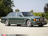 1998 Bentley Turbo RT Mulliner = 249 kph, 426 bhp, 6 sec.