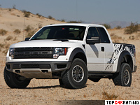 2009 Ford F-150 SVT Raptor SuperCab = 170 kph, 415 bhp, 6.8 sec.