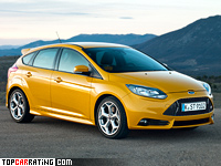 2012 Ford Focus ST = 240 kph, 252 bhp, 6.1 sec.