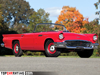 1957 Ford Thunderbird Special Supercharged 312 = 213 kph, 300 bhp, 9.2 sec.