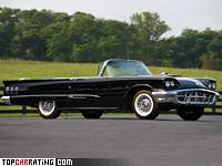 1960 Ford Thunderbird 430 Convertible = 220 kph, 355 bhp, 9.7 sec.