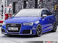 2016 Audi RS3 Sportback Oettinger = 346 kph, 750 bhp, 2.9 sec.