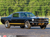 1966 Ford Mustang Shelby GT350H = 210 kph, 306 bhp, 6.5 sec.