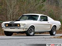 1968 Ford Mustang GT Fastback 428 Cobra Jet = 210 kph, 340 bhp, 7.4 sec.