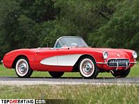 1956 Chevrolet Corvette V8 (С1) = 212 kph, 283 bhp, 6.1 sec.