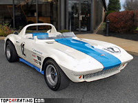 1963 Chevrolet Corvette Grand Sport Roadster = 260 kph, 485 bhp, 5.1 sec.