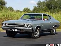 1969 Chevrolet Chevelle SS 396 Sport Coupe = 205 kph, 355 bhp, 6.5 sec.