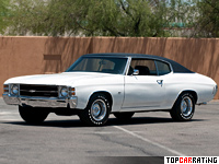 1971 Chevrolet Chevelle SS 454 = 210 kph, 425 bhp, 6.4 sec.