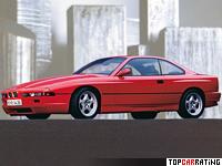 1992 BMW 850CSi = 250 kph, 385 bhp, 6 sec.