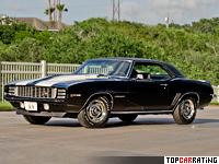 1969 Chevrolet Camaro Z/28 RS = 205 kph, 290 bhp, 7.2 sec.