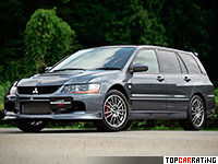 2006 Mitsubishi Lancer Evolution IX Wagon MR = 250 kph, 286 bhp, 4.8 sec.