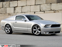 2009 Ford Mustang Iacocca Silver 45th Anniversary Edition = 250 kph, 405 bhp, 4.6 sec.