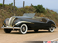 1947 Rolls-Royce Phantom III Labourdette Vutotal Cabriolet = 148 kph, 165 bhp, 17.8 sec.