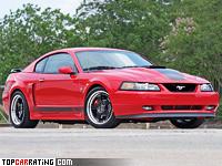 2003 Ford Mustang Mach 1 = 263 kph, 304 bhp, 5.7 sec.