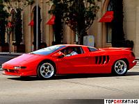 1991 Cizeta Moroder V16T = 328 kph, 540 bhp, 4.35 sec.