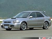 2002 Subaru Impreza SportWagon Type Euro 20K = 240 kph, 251 bhp, 6.4 sec.