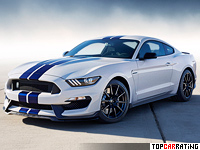 2015 Ford Mustang Shelby GT350 = 289 kph, 533 bhp, 3.9 sec.
