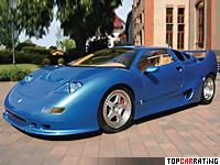 1990 Montecarlo Automobile GTB Centenaire = 350 kph, 720 bhp, 4 sec.