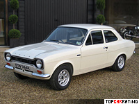 1970 Ford Escort RS 1600 = 183 kph, 122 bhp, 8.8 sec.