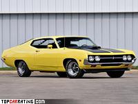 1971 Ford Torino Cobra Sportsroof 429 CJ = 226 kph, 370 bhp, 6.9 sec.