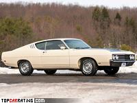 1969 Ford Torino Talladega = 206 kph, 340 bhp, 7.2 sec.
