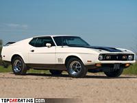 1971 Ford Mustang Mach 1 429 Cobra Jet = 220 kph, 370 bhp, 5.6 sec.