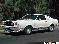 1976 Ford Mustang II Cobra II = 167 kph, 136 bhp, 9.6 sec.