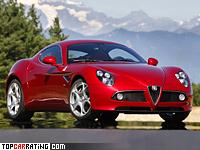 2007 Alfa Romeo 8C Competizione = 293 kph, 450 bhp, 4.2 sec.