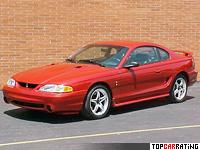 1996 Ford Mustang SVT Cobra = 245 kph, 309 bhp, 6.3 sec.