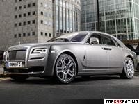 2015 Rolls-Royce Ghost Series II = 250 kph, 570 bhp, 4.9 sec.