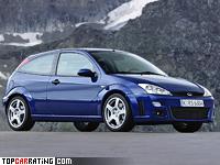 2002 Ford Focus RS = 232 kph, 215 bhp, 6.7 sec.