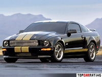 2006 Ford Mustang Shelby GT-H = 257 kph, 325 bhp, 5.2 sec.
