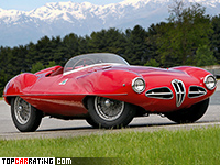 1952 Alfa Romeo 1900 C52 Disco Volante Touring Spider = 220 kph, 140 bhp, 7.2 sec.