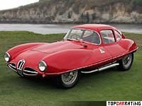 1953 Alfa Romeo 1900 C52 Disco Volante Coupe = 220 kph, 140 bhp, 7.2 sec.