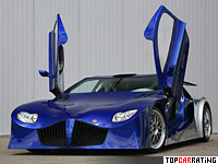 2008 Weber Sportscars Faster One (F1) = 400 kph, 900 bhp, 2.5 sec.