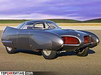 1953 Alfa Romeo Bertone BAT 5 = 190 kph, 115 bhp, 10.5 sec.