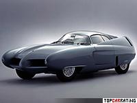 1954 Alfa Romeo Bertone BAT 7 = 201 kph, 115 bhp, 9.1 sec.