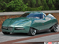 2008 Alfa Romeo Bertone BAT 11 Coupe = 300 kph, 450 bhp, 4 sec.